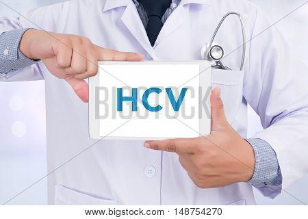 Diagnosis - Hcv Concept ( Hepatitis C Virus)