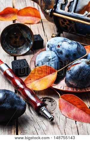 Hookah And Autumn Plum