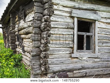 Dilapidated Old Wooden Rustic House