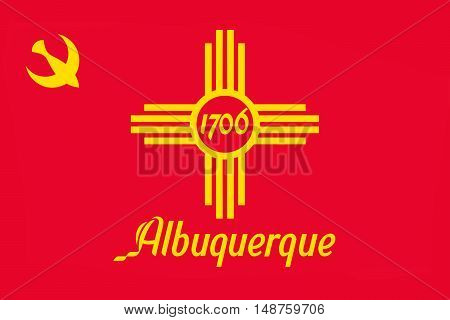 Flag of Albuquerque is the most populous city in New Mexico United States