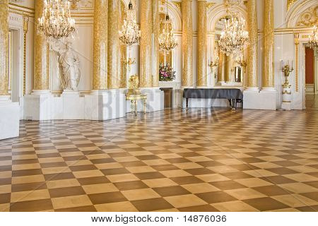 Stylish ball room.