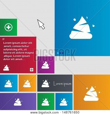 Poo Icon Sign. Buttons. Modern Interface Website Buttons With Cursor Pointer. Vector