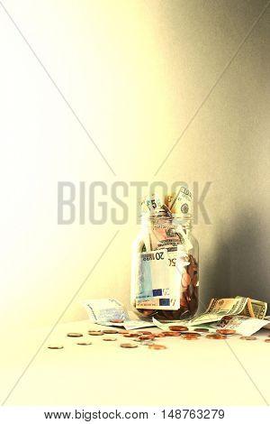 Full Money Jar