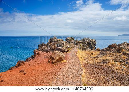 Ponta De Sao Lourenco. Cape Is The Most Eastern Point Of Madeira Island