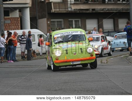 BELGRADE,SERBIA - SEPTEMBER 10, 2016: Old Zastava 750 at the commercial race of old cars in memory of formula 1 race held on the same place in 1939 two days after the beginning of Second World War when the famous Italian driver Tazio Nuvolari won