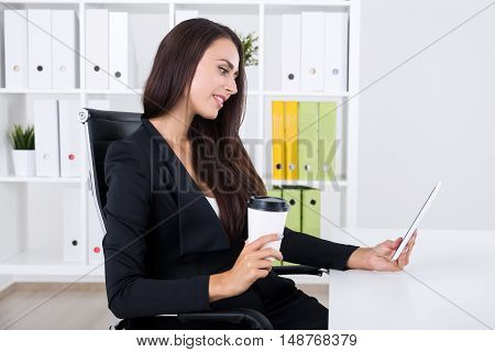 Business Lady Video Chatting