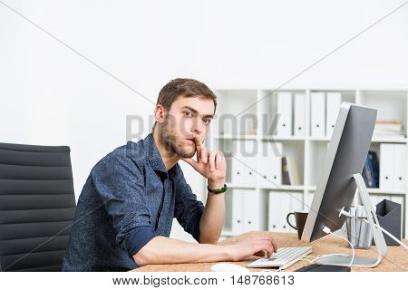 Man Thinking About Business Problem