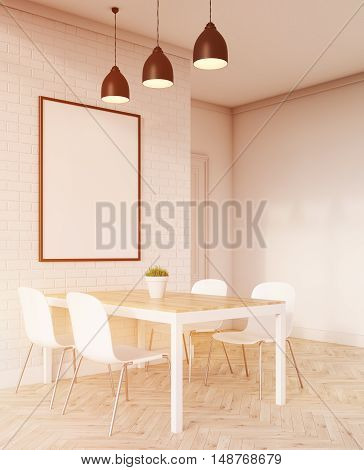Side View Of Dinner Table