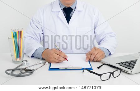 Professional Doctor Writing