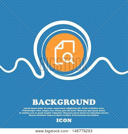 Search Documents Icon Sign. Blue And White Abstract Background Flecked With Space For Text And Your