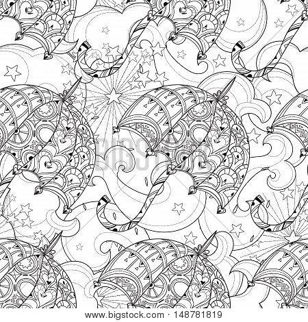 Hand Drawn Doodle Outline Umbrella