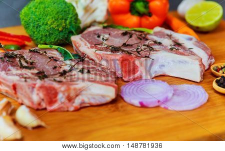 Perfect Raw Pork Neck With Spices