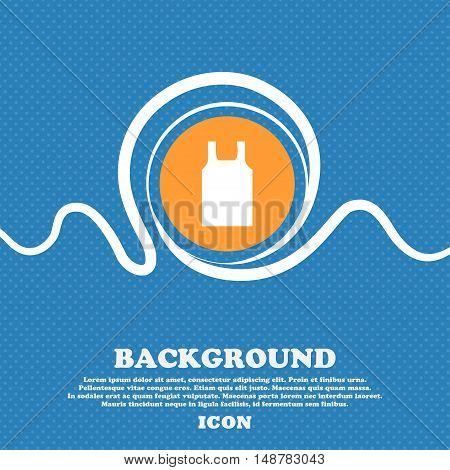 Working Vest Icon Sign. Blue And White Abstract Background Flecked With Space For Text And Your Desi