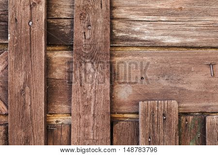 Vintage Weathered Wooden Wal Details