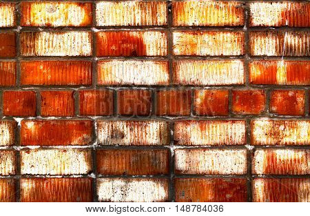 Brickwork, brick, pattern of old brick surfaced, rough brick wall, brickwall, brick house, bright