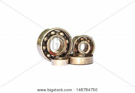 The ball bearings isolated on white background