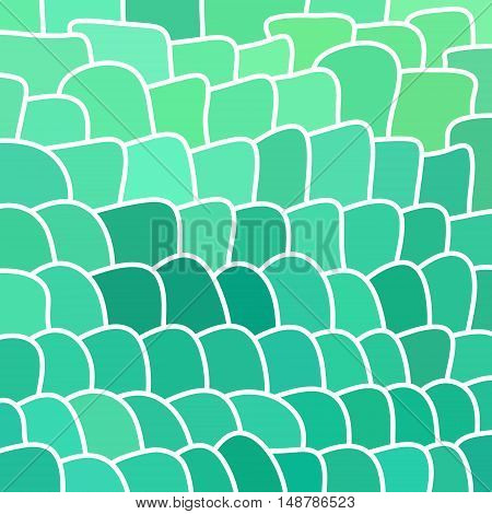 abstract vector stained-glass mosaic background - teal and blue