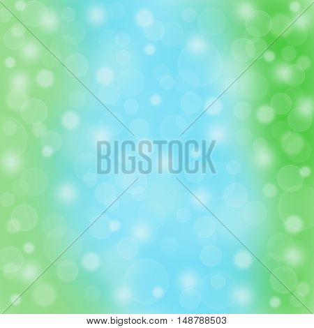 Abstract blue green background bokeh blurred motion raster illustration