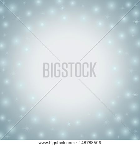 Snowy abstract winter frame background with copy space for text raster illustration