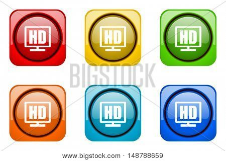 hd display colorful web icons