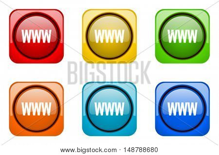 www colorful web icons