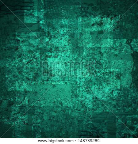 abstract colored scratched grunge background - teal and blue