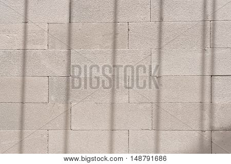 White lightweight concrete block used in the construction.