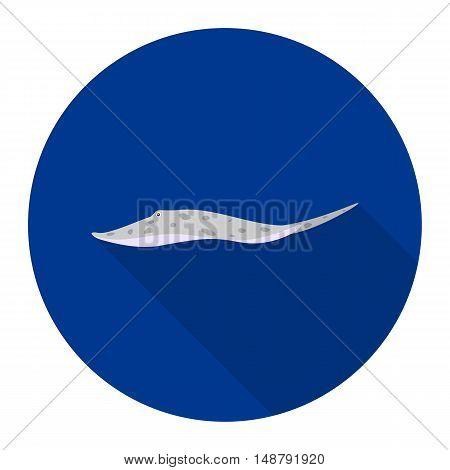 Stingray Motor Leopoldi fish icon flat. Singe aquarium fish icon from the sea, ocean life flat.
