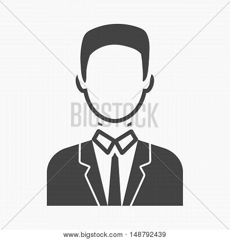 Businessman icon black. Single avatar, peaople icon from the big avatar simple.