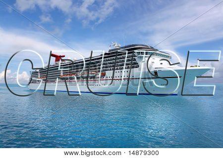 Tropische Schiff Kreuzfahrt