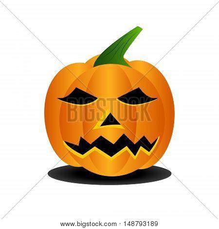 Symbol of halloween very scary pumpkin head