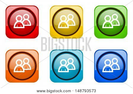 forum colorful web icons