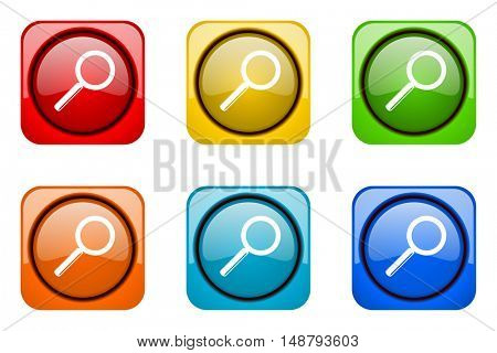 search colorful web icons