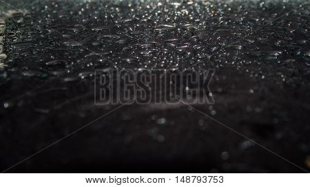 abstract black background, water drops, glitter background