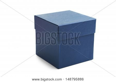 Blue box isolated on a white background