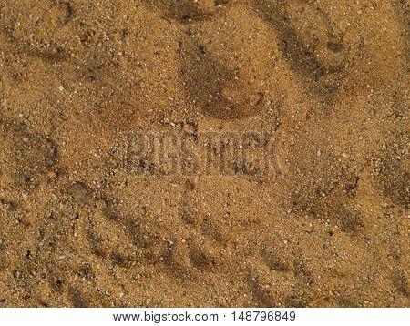 closeup shot of natural brown coarse sand texture