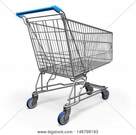 Shopping Cart 3D trolley push store business customer