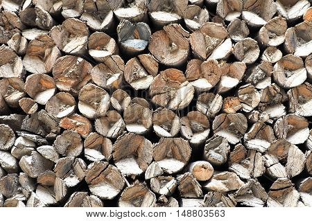 Uneven Natural Side Of Wooden Logs Abstract Background Texture