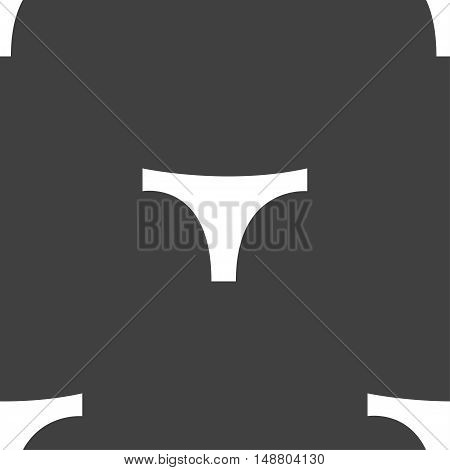 Underwear Icon Sign. Seamless Pattern On A Gray Background. Vector