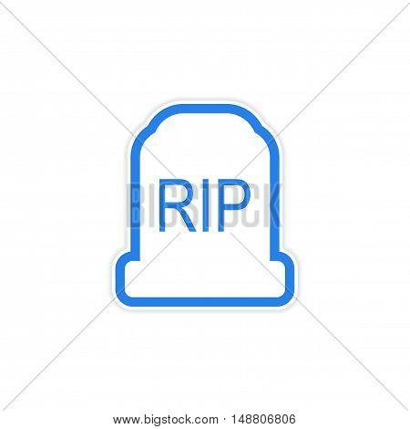 sticker bright headstone on a white background