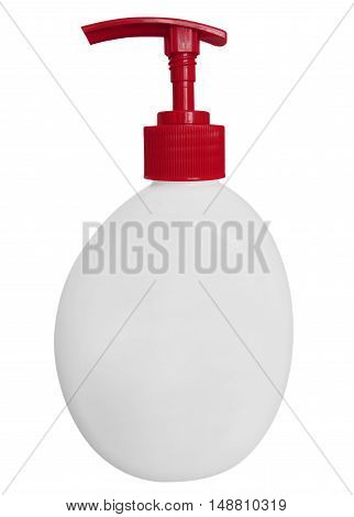 Cosmetic tube bottle isolated on white background with Clipping path