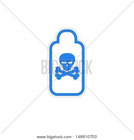 sticker jar of poison on a white background