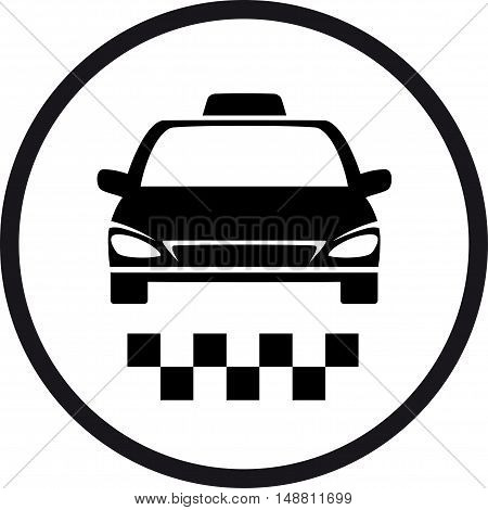 Round Taxi Sign