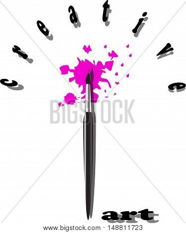 Paint brush for you design with background