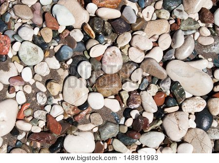 Background From Sea Stones For Design.