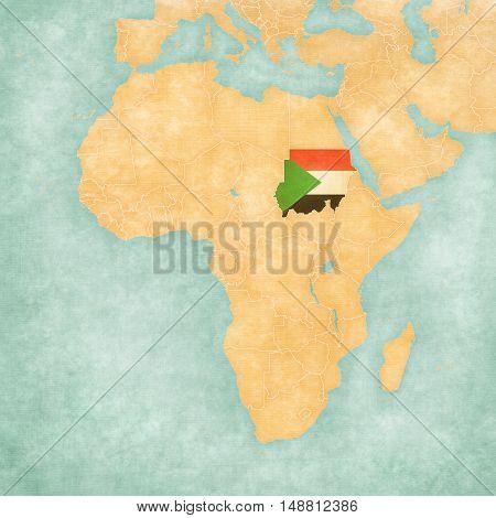 Map Of Africa - Sudan