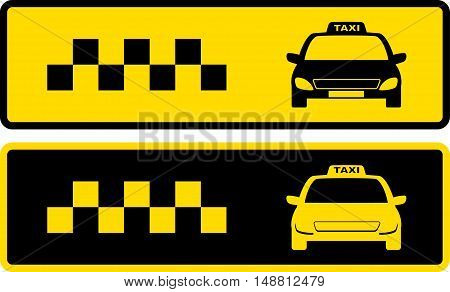 Black And Yellow Taxi Icons