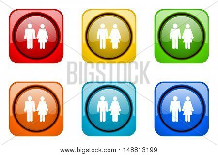 couple colorful web icons