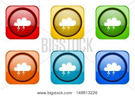 storm colorful web icons