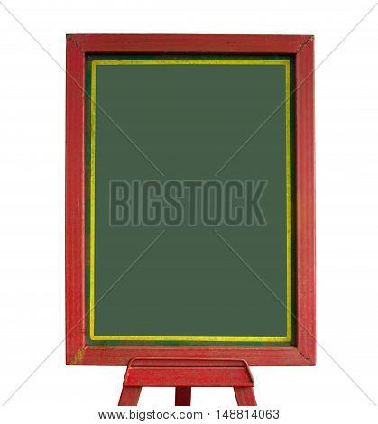 Close up blackboard isolated on white background.